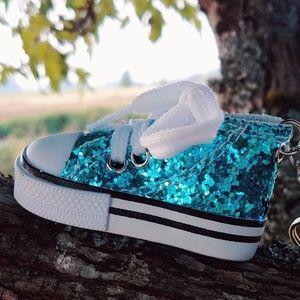 Accessories - New Sneaker Sparkles Blue Keychain Handbag Charm